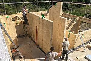 Baubeginn Vollholzhaus